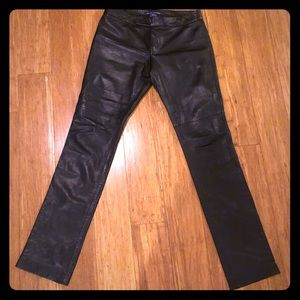 Ralph Lauren women's Genuine Black Leather pants